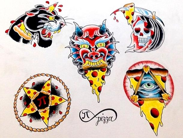 Tatouages Pi Pizza